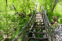 Ponte di legno sopra Erma River Immagine Stock