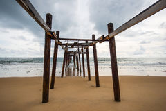 Ponte di legno storico Immagini Stock Libere da Diritti
