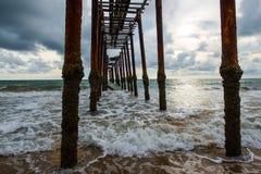 Ponte di legno storico Fotografie Stock