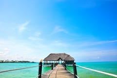 Ponte di legno a Zanzibar fotografia stock libera da diritti