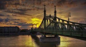 Ponte di libertà di Budapest Immagine Stock Libera da Diritti