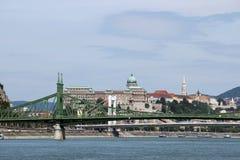 Ponte di libertà sopra il Danubio Budapest fotografia stock