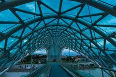Ponte di libertà a Tbilisi Fotografia Stock Libera da Diritti