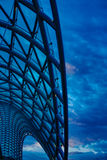 Ponte di libertà a Tbilisi Immagine Stock