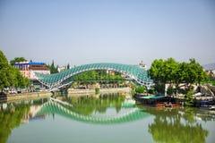 Ponte di libertà a Tbilisi, Georgia Fotografia Stock Libera da Diritti