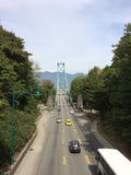 Ponte di Lionsgate, Stanley Park Immagine Stock Libera da Diritti