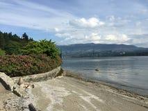 Ponte di Lionsgate, Vancouver Fotografie Stock Libere da Diritti