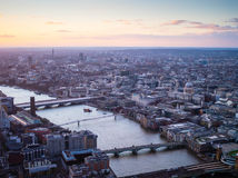 Ponte di Londra di St Paul Immagini Stock