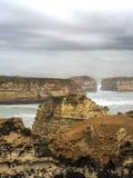 PONTE DI LONDRA - PORTO CAMPBELL, GRANDE STRADA DELL'OCEANO, AUSTRALIA Fotografia Stock Libera da Diritti