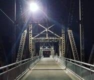 Ponte di luce della luna fotografia stock
