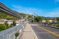 Ponte di Luis Ignacio Andrade sopra il fiume di Magdalena Fotografia Stock