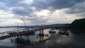 Ponte di Mahakam fotografie stock libere da diritti