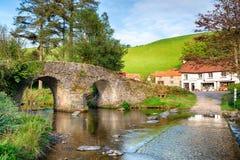 Ponte di Malmsmead sul parco nazionale di Exmoor Fotografia Stock