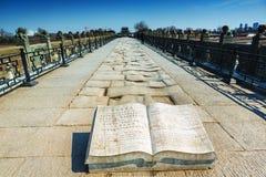 Ponte di Marco Polo che wanping a Pechino Fotografia Stock