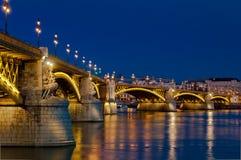 Ponte di Margaret, Budapest, Ungheria Immagini Stock Libere da Diritti