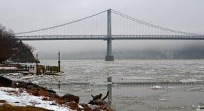 Ponte di Mezzo Hudson fotografia stock
