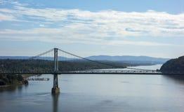 Ponte di Mezzo Hudson sopra il Hudson Immagine Stock