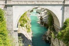 Ponte di millefoglie in Caporetto Immagini Stock Libere da Diritti