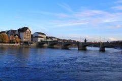Ponte di Mittlere a Basilea Fotografia Stock