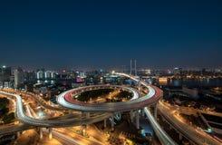 Ponte di NanPu Fotografie Stock