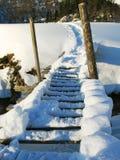 ponte di neve fotografia stock