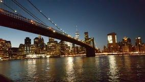 Ponte di New York, costruzioni Fotografia Stock Libera da Diritti