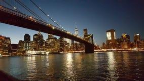 Ponte di New York, costruzioni Fotografie Stock Libere da Diritti