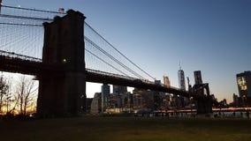 Ponte di New York, costruzioni Fotografia Stock