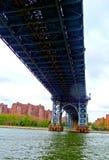 Ponte di New York sopra il fiume immagini stock libere da diritti