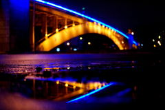 Ponte di notte Immagini Stock Libere da Diritti