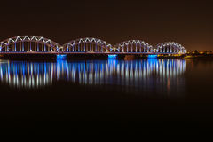 Ponte di notte a Riga Immagine Stock