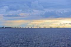 Ponte di Oresund fotografie stock libere da diritti