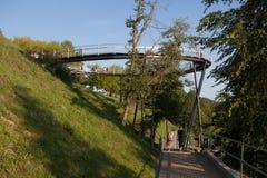 Ponte di osservazione del lago Zarasas Immagine Stock