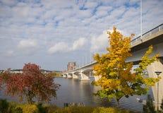 Ponte di ottobre Fotografia Stock Libera da Diritti