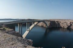 Ponte di Paski (ponte del PAG) fotografia stock libera da diritti