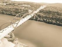 Ponte di Pennybacker di vista aerea o 360 ponte in Austin, il Texas, U Immagine Stock Libera da Diritti