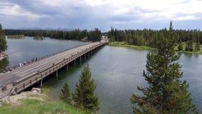 Ponte di pesca, parco nazionale di Yellowstone Fotografie Stock Libere da Diritti