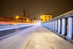 ponte di Pescantina Bussolengo al Natale 2017 Fotografia Stock