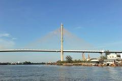 Ponte di Phra Rama 8 Fotografie Stock Libere da Diritti