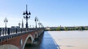 Ponte di pietra in Bordeaux, Francia stock footage