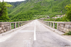 Ponte di pietra del film Immagini Stock