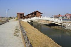 Ponte di pietra dell'arco delle località di soggiorno del xiaodeng fotografia stock libera da diritti