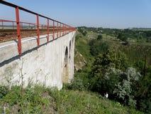 Ponte di pietra ferroviario Fotografia Stock Libera da Diritti