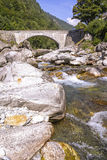 Ponte di pietra, il Ticino Immagine Stock Libera da Diritti