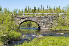 Ponte di pietra Jamtland dell'arco Fotografia Stock