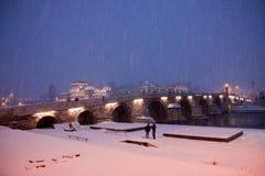Ponte di pietra a Skopje Immagine Stock