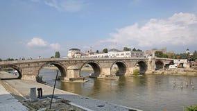 Ponte di pietra Skopje Fotografia Stock Libera da Diritti
