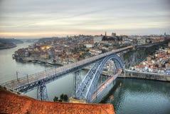 Ponte di Ponte Luis I, Oporto Immagini Stock Libere da Diritti