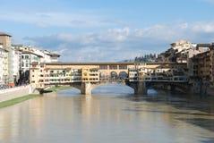 Ponte di Ponte Vecchio a Firenze Fotografia Stock Libera da Diritti