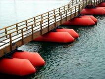 Ponte di pontone Fotografie Stock